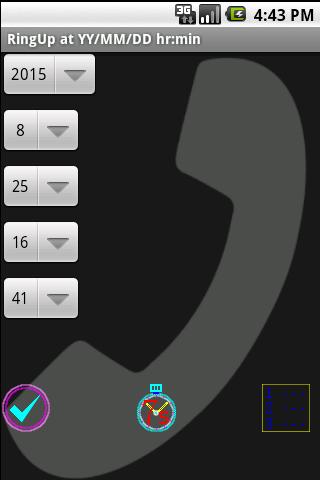 自制来电 脱身术:fake call设定手机在某时自响铃声