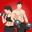 Dumbbell Workouts-Bodybuilding at Home icon