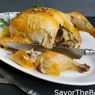 Beer-Can Roasted Chicken with Wine, Lemon and Fresh Herbs