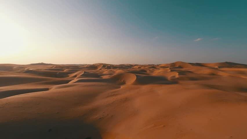 a vast empty desert
