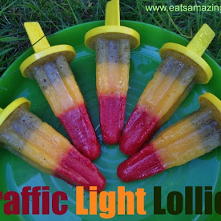 Traffic Light Ice Lollies