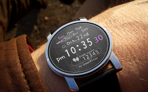 Blackboard Watchface screenshot 1