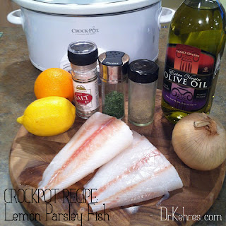 Crockpot Lemon Parsley Fish [paleo recipe].