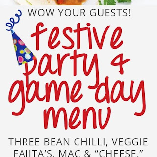 Festive Party and Game Day Menu