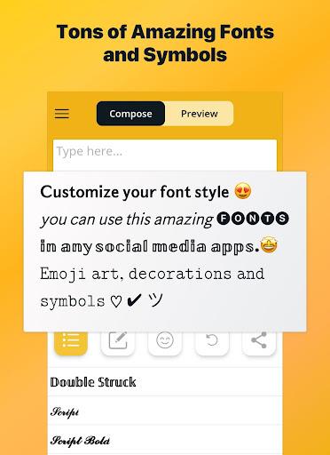 Font Changer - Cool Fonts Keyboard, Stylish Text 6.1 screenshots 6
