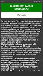 Quroni karim kitobi uzbek tilida skachat