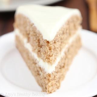 Spiced Hummus Cake with Vanilla Yogurt Frosting Recipe