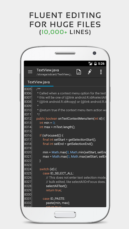 QuickEdit Text Editor- screenshot
