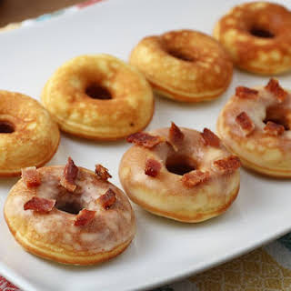 Mini Keto Pancake Donuts.