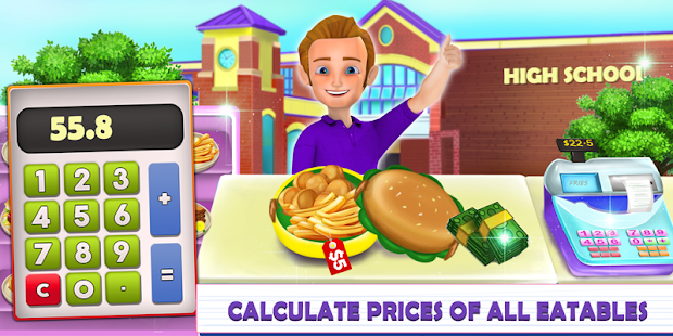 High School Lunch Box Cashier - Kids Game - náhled
