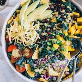 Vegetarian Kale Taco Salad.