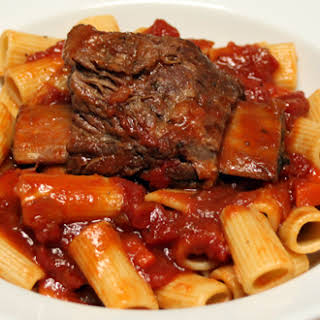 Short Ribs in Red Sauce with Rigatoni.