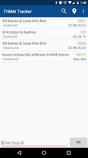 TriMet Tracker - náhled
