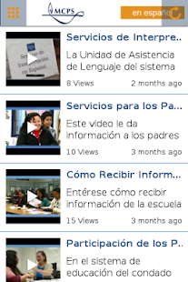 MCPS en español- screenshot thumbnail