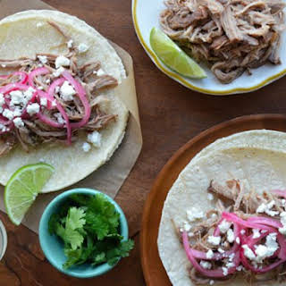 Simple Slow Cooker Pulled Pork Tacos.