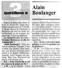 Photo: Octobre 1994, le point avec Alain Boulanger