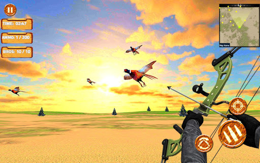 Pheasant Shooter: Crossbow Birds Hunting FPS Games apklade screenshots 2