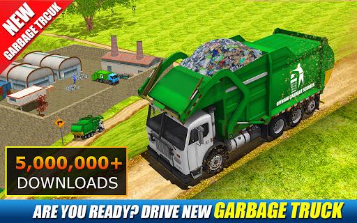 Offroad Garbage Truck: Dump Truck Driving Games apktram screenshots 1