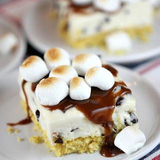 No Bake S'Mores Cheesecake Bars.