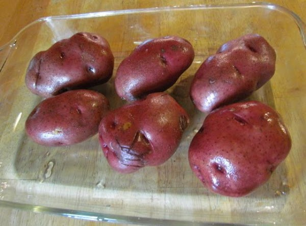 have 6 large red potatoes ready and washed