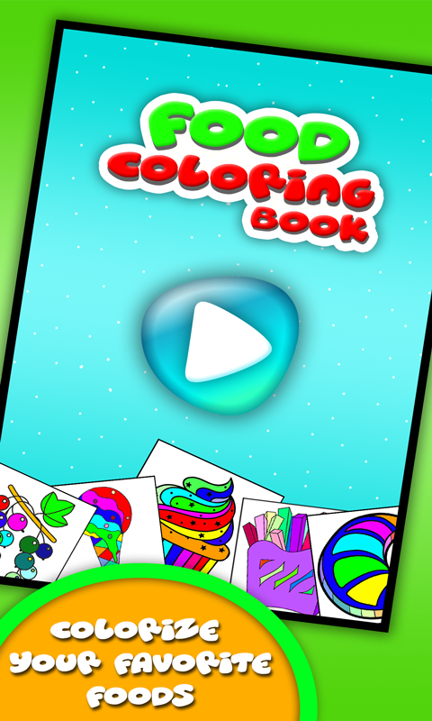 Coloring Book for Food kitchen- screenshot