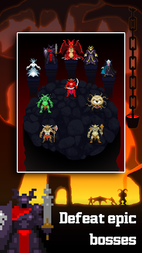 Dunidle: Dungeon Crawler & Idle Hunter Boss Heroes 1200000045 APK MOD screenshots 2