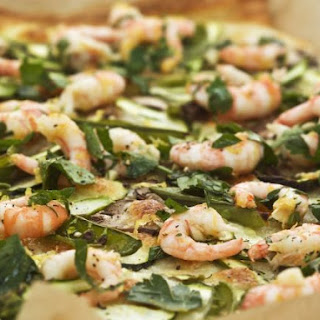 Seafood Flatbread with Parsley