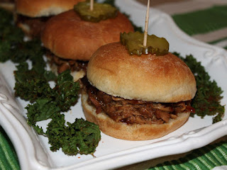 Root Beer Sliders And Kale Chips Recipe