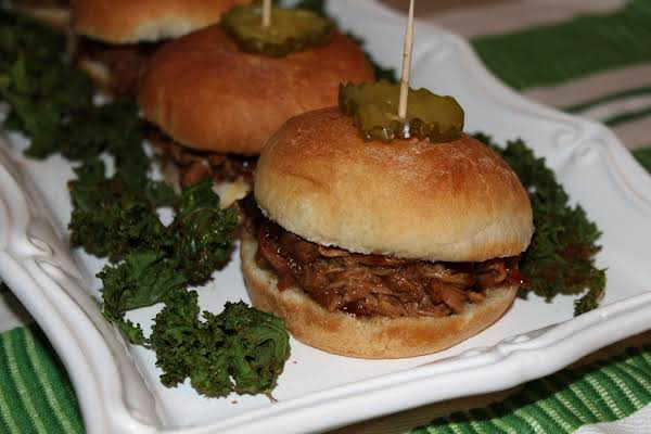 Root Beer Sliders And Kale Chips