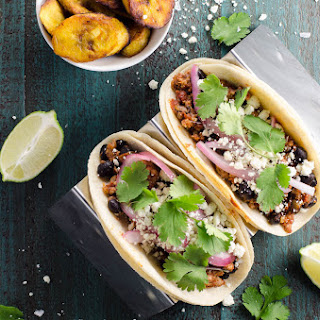 Easy Ground Pork Tacos with Black Beans.