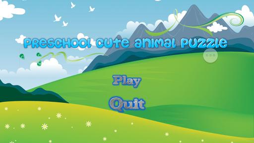 Preschool Cute Animal Puzzle