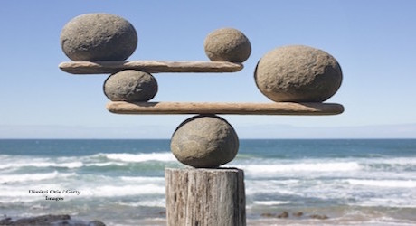 rocks of different shapes balanced on each other