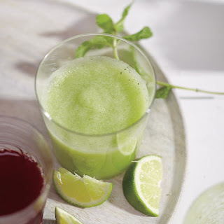 Melon, Mint, and Cucumber Smoothie.
