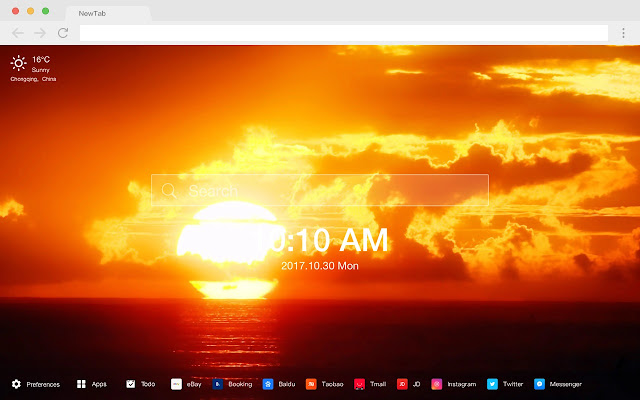 Sun New Tab HD Landscape Top Wallpapers Theme