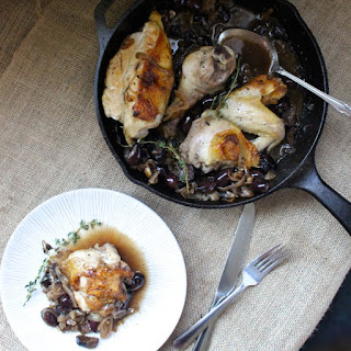 Pan-Roasted Chicken with Figs & Olives