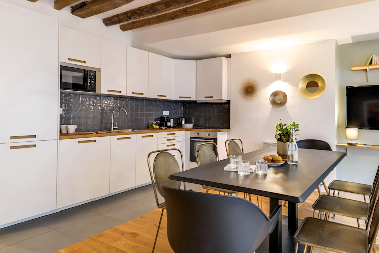 Luxury kitchen at Chevalier Saint-Georges