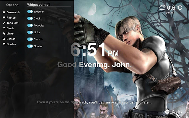 Resident Evil 4 Wallpaper Tab Theme