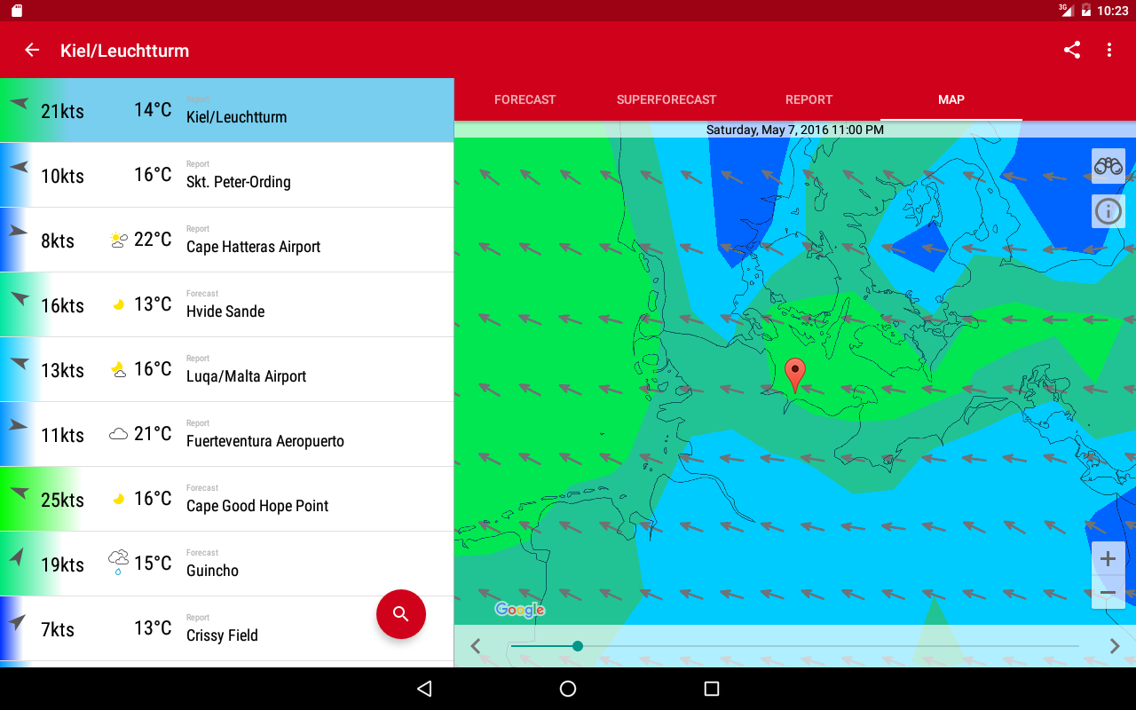 Windfinder Pro- screenshot