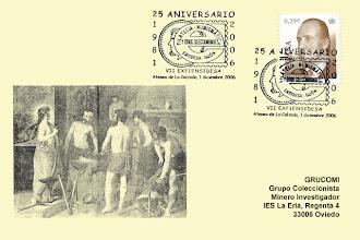 Photo: Matasellos del 25 aniversario del Grupo Filatélico y Numismático de Ensidesa durante su VII EXFIENSIDESA en 2006