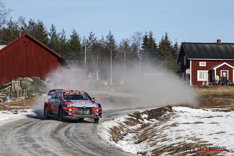 Thierry Neuville blijft voorlopig hangen achter top vijf in Zweden, Brit op weg naar zege
