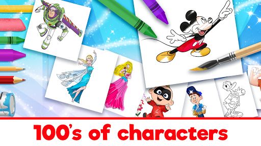 Disney Coloring World apkpoly screenshots 14