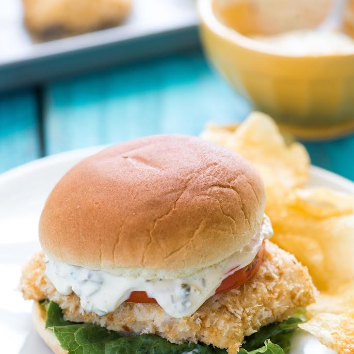 Baked Crispy Fish Sandwiches Recipe