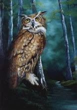 Photo: WL016 Midnight Owl (for 18 x 24 canvas) $7.99