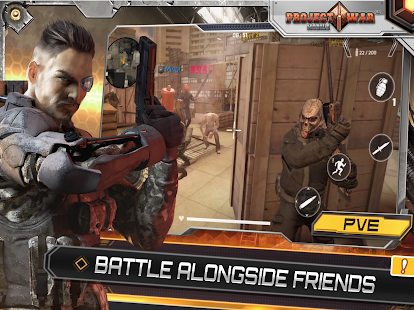 Project War Mobile - online shooting game Screenshot