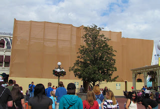 Photo: Work on Main Street facades continues. When it's done the park will look better than ever.
