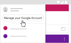 Click Manage accounts