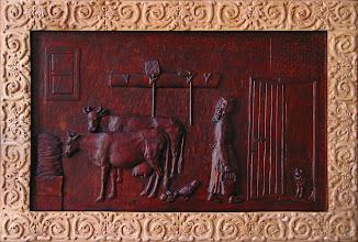Photo: El establo. Tamaño: 80 x 120 cm. Talla en madera. Woodcarving.  Para leer algo más en relación con esta obra ir al blog: http://tallaenmadera-woodcarving-esculturas.blogspot.com/2012/04/nueva-ornamentacion-para-el-marco-de-el.html