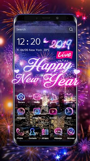 Lucky 3D New Year Firework Theme 1.1.4 screenshots 3