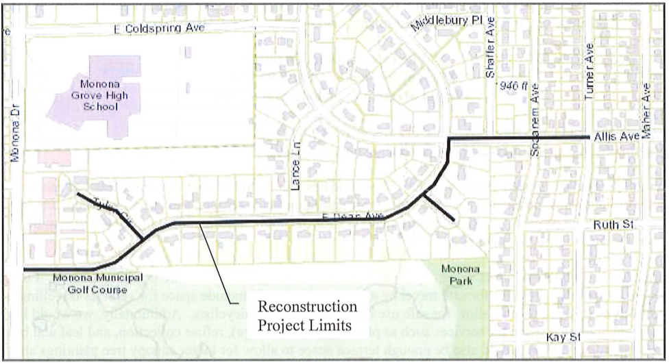 Map of project limits