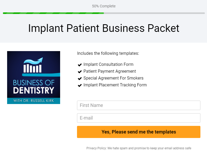 Get Your Implant Patient Business Packet Here